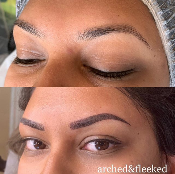 ombre combination brow