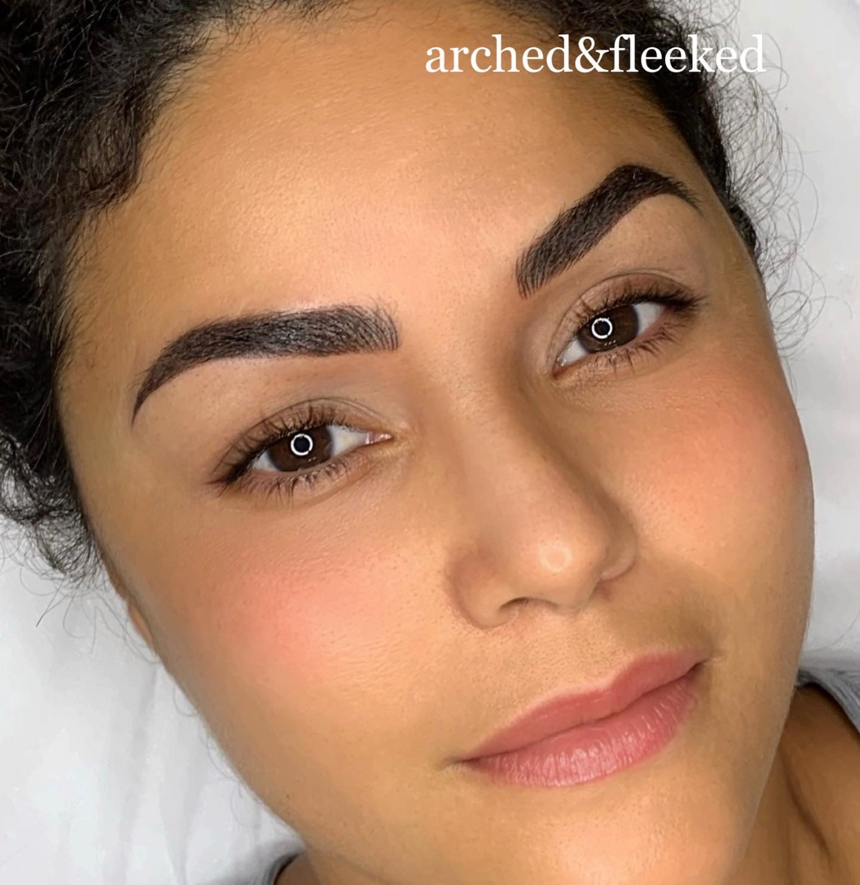 fluffy thick ombre brows