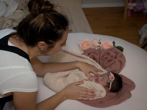 Behind the scenes of Alia's Newborn Session