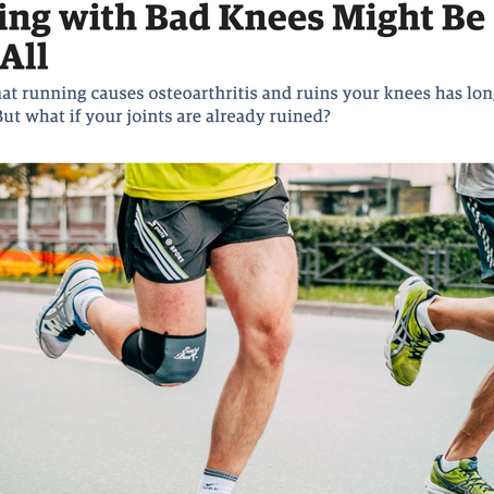 Bad knees, Keep Running?