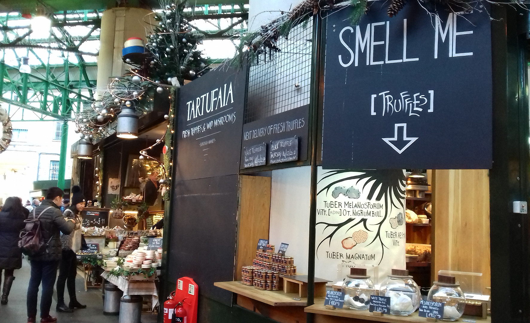 truffle sniffin' at the Borough market, London