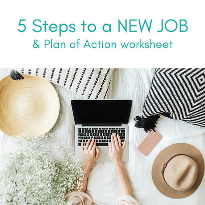 5 Steps to a new job and action plan worksheet