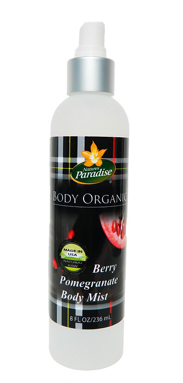 BODY ORGANIC Berry Pomegranate Body Mist 8oz