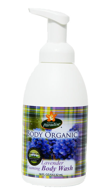 BODY ORGANIC Lavender Foaming Body Wash 18oz