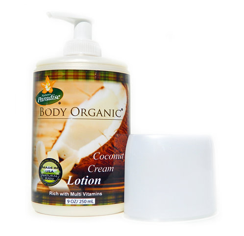 BODY ORGANIC Creamy Coconut Lotion 9oz