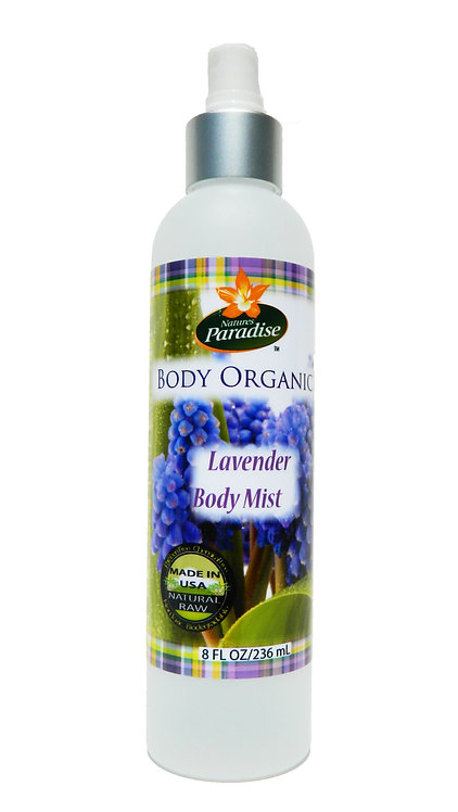 BODY ORGANIC Lavender Body Mist 8oz