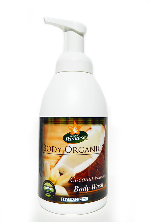 BODY ORGANIC Coconut Foaming Body Wash 18oz