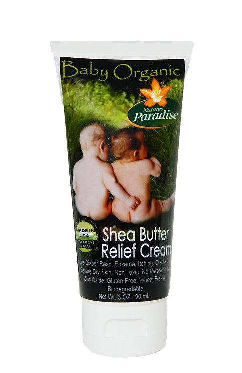 Baby Organic Relief Cream-No Zinc Oxide 3oz.