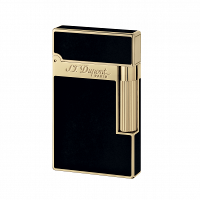 YELLOW GOLD FINISH NATURAL LACQUER LIGHTER