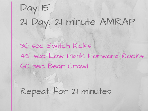 21 Day Challenge - Day 15