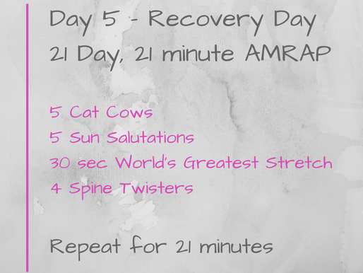 21 Day Challenge - Day 5