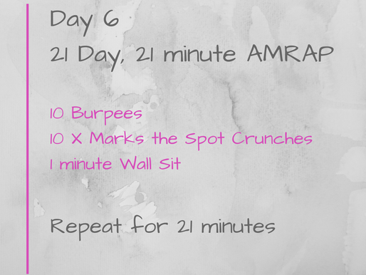 21 Day Challenge - Day 6