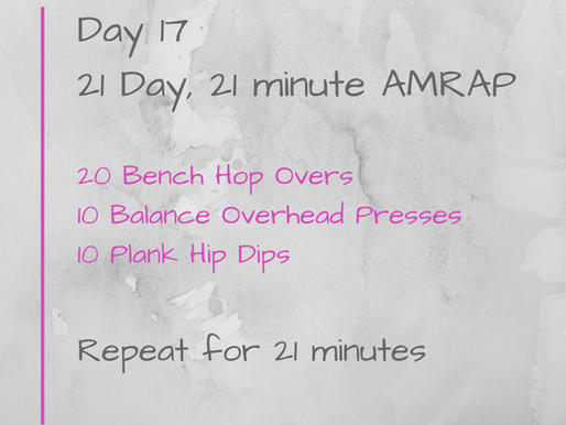 21 Day Challenge - Day 17