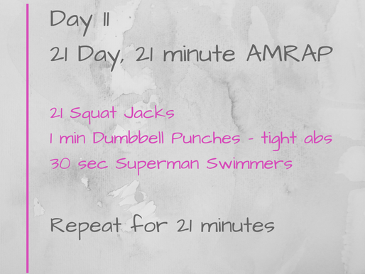 21 Day Challenge - Day 11