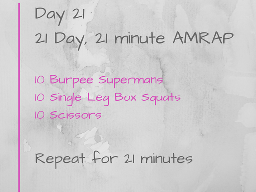 21 Day Challenge - Day 21