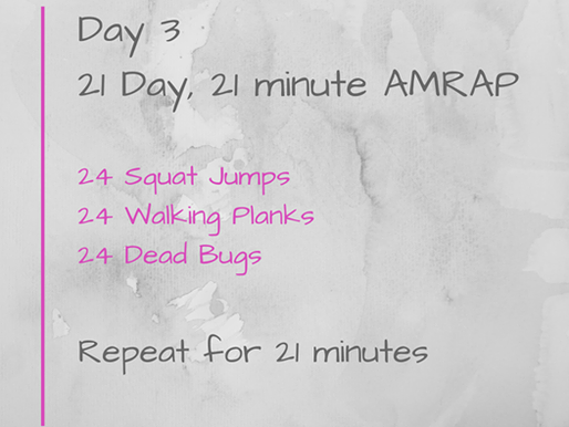 21 Day Challenge - Day 3