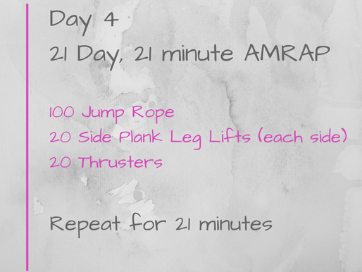 21 Day Challenge - Day 4