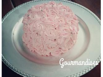 Mini rose cake fourré cerise confite