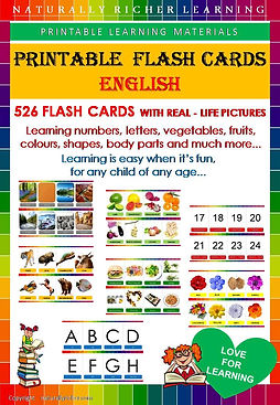 Printable flash cards, downloadable learning materials, english vocabulary, homeschooling, wordschoolig, school, teachers, body parts, shapes, naturaly richer learning materials