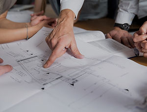 Constuctio plans for single home real estate deveopment