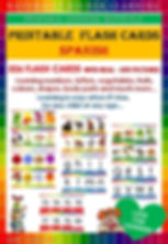 Spanish vocabulary, learning teaching, downloadable printable flash cards, fun easy learning materials, naturally richer, homeschool, teacher, children, school, Spanish flashcards fruits, vegetables, animals, shapes, body parts letters colors food numbers letters in Spanish, easy fun learning, fast