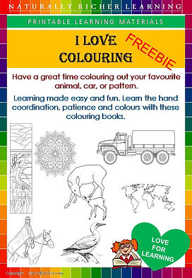 Free downloadable printable homeschooling, learning colouring pages, animals cars patterns horses free download