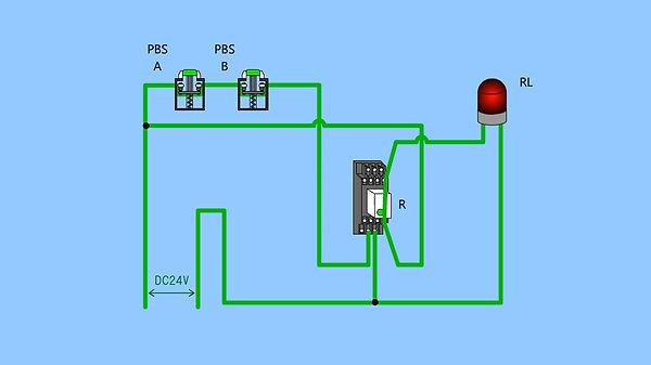 ②(ランプ付き制御盤)直列b接点②_実体配線図(最初).jpg