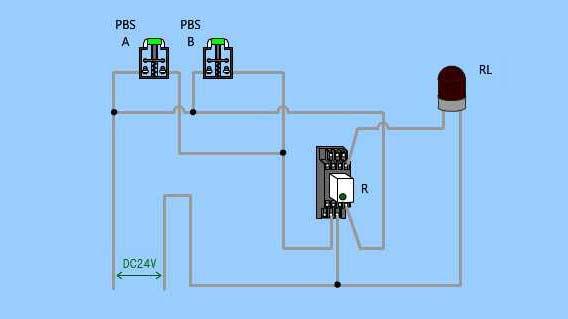 ③(ランプ付き制御盤)並列a接点②_実体配線図.jpg