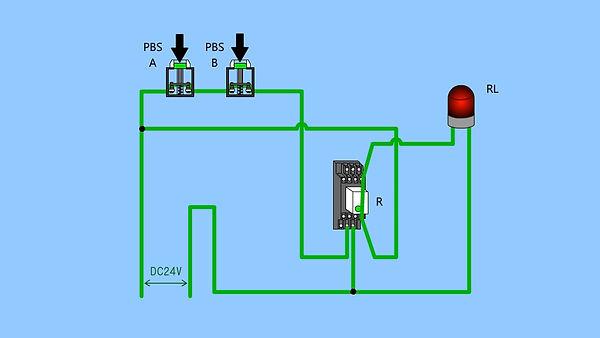 ②(ランプ付き制御盤)直列a接点②_実体配線図(最初).jpg