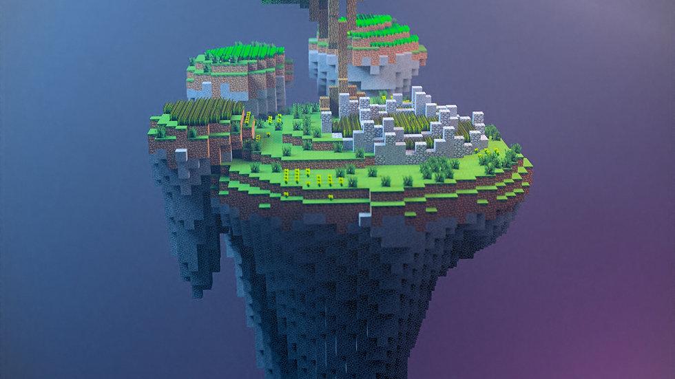 Farming Skyblock Island