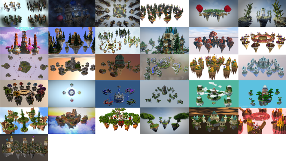 PACKAGE 38 (ALL) Skywars Maps
