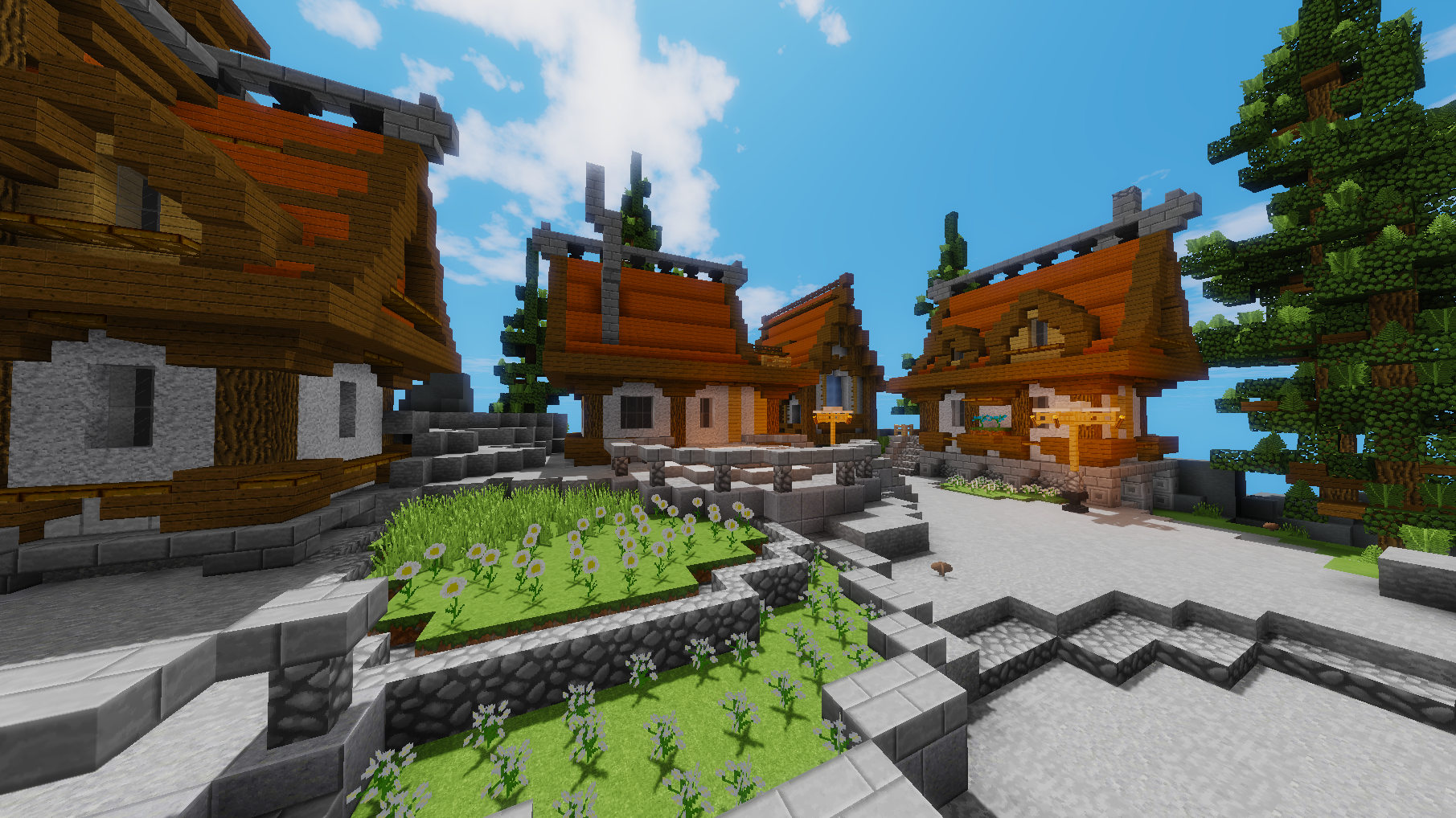 Calm Village Skyblock Spawn
