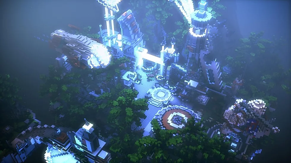 Tropical Sci-Fi Skyblock Spawn