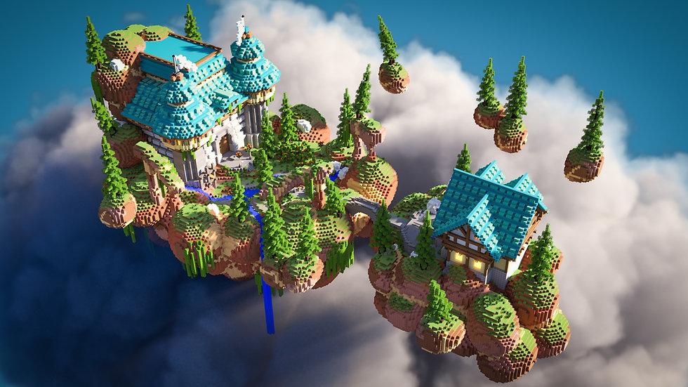 Fantasy Castle Skyblock Spawn
