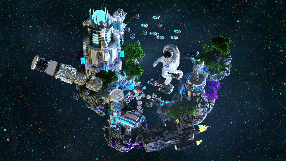 Space Port Skyblock Spawn