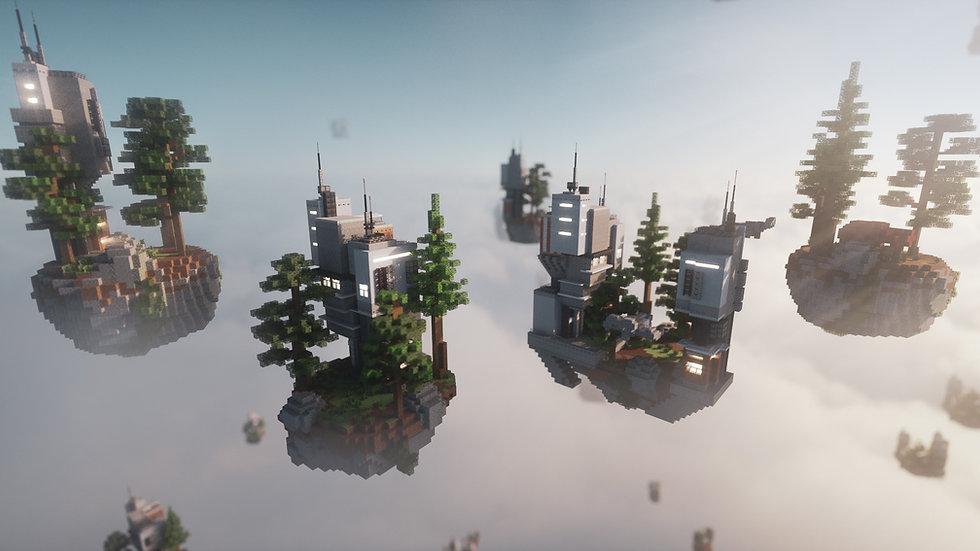 4 Sci-Fi Skyblock Islands