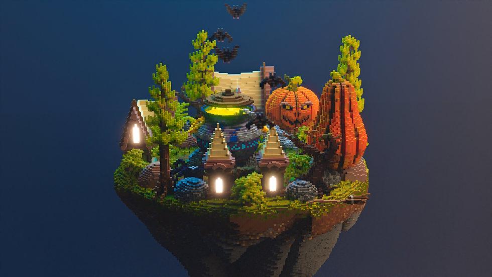 Spooky Village Skyblock Spawn