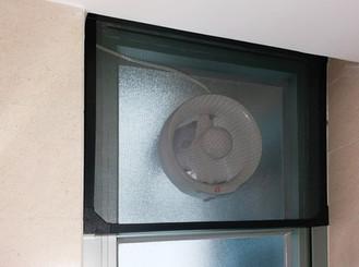 蚊網-磁石式抽氣扇效果 | Hometown Design