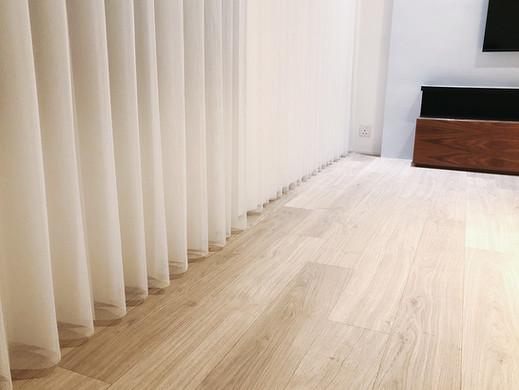 垂直柔紗簾-窗簾局部透光效果 | Hometown Design