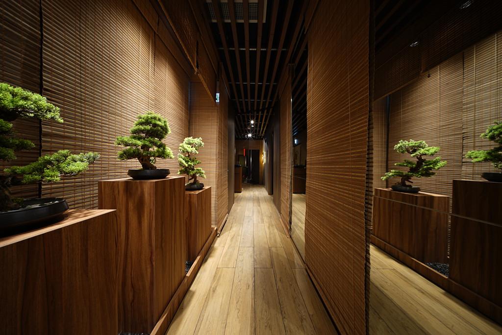 竹簾-日式餐廳屏風設計 | Hometown Design