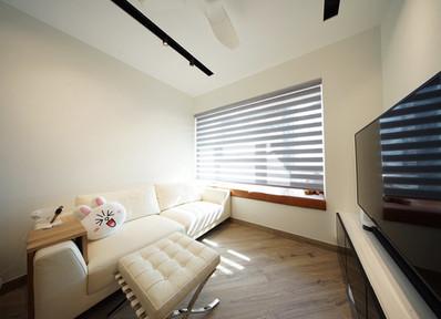 斑馬簾-窗簾簡潔風格 | Hometown Design