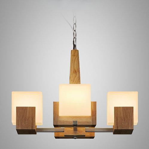 北歐風 | 木方吊燈 02