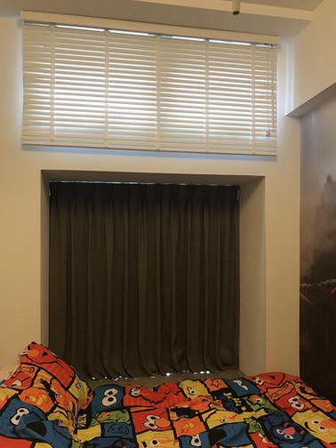 百葉簾-木百葉簾配襯布窗簾 | Hometown Design