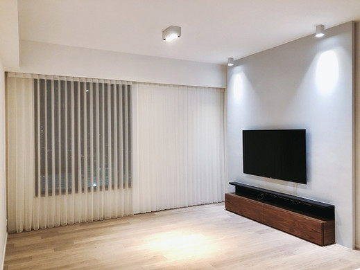 垂直柔紗簾-透光遮光效果 | Hometown Design