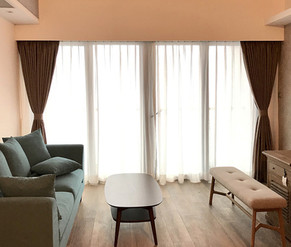 布藝窗簾-優雅客廳 | Hometown Design