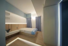 布藝窗簾-雙人睡房關閉效果 | Hometown Design