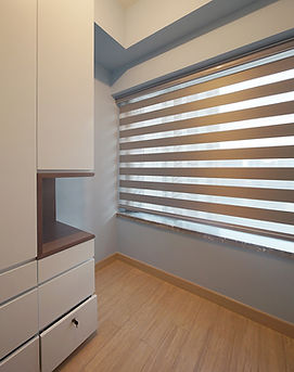 斑馬簾-窗簾透光效果 | Hometown Design