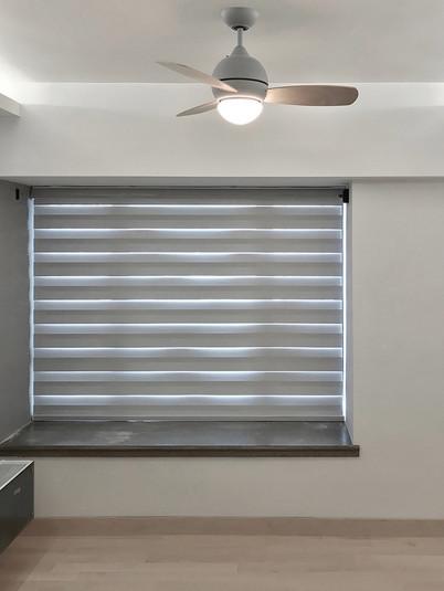 斑馬簾-窗台遮光效果   Hometown Design
