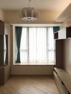 布藝窗簾-客廳雙層效果 | Hometown Design