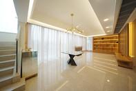 布藝窗簾-單層窗紗大廳 | Hometown Design